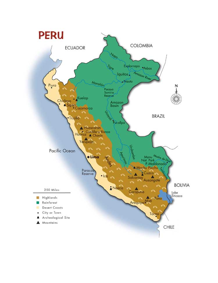 Maps - Cities map of peru